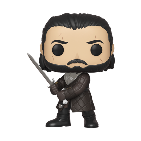 Front image of Jon Snow with Sword - Game of Thrones pop