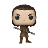 Front image of Arya Stark with Two Headed Spear - Game of Thrones pop