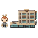 Front image of Freddy Funko with Funko HQ  pop town