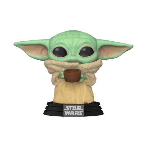 Front image of The Child with Cup - The Mandalorian pop