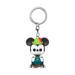 Front image of Matterhorn Bobsleds Attraction & Mickey Mouse pop keychain