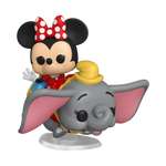 Dumbo Flying Elephant Attraction and Minnie Mouse