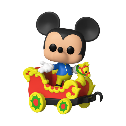Mickey Mouse on the Casey Jr. Circus Train Attraction