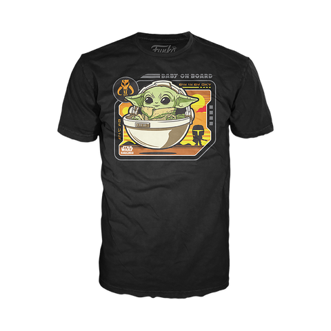 "Pop! Tee: Star Wars - The Child ""Baby on Board"""