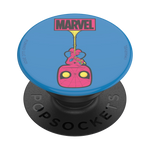 Front view of Upside-Down Spider-Man pop socket