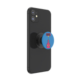 Side view of Upside-Down Spider-Man pop socket expanded on device
