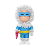 Front image of Captain Cold Vinyl Soda flocked chase variant