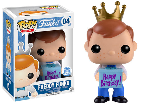 POP: Freddy Funko with Birthday Gift