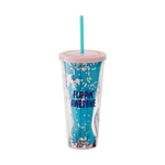 Back image of The Little Mermaid cup and straw