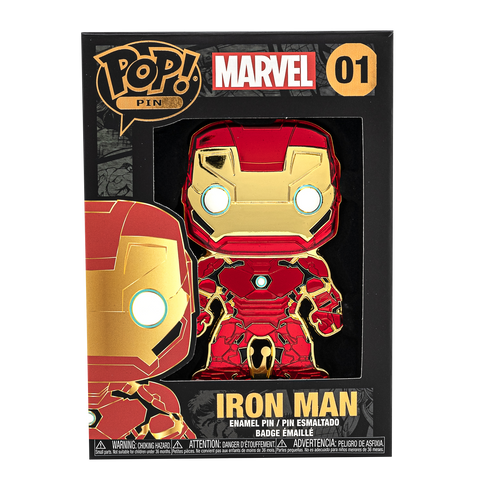 Box image of Iron Man pop pin
