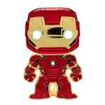 Front image of Iron Man pop pin