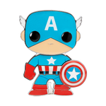 Front image of Captain America pop pin