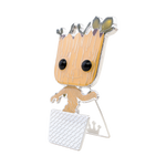 Side image of Baby Groot w/ Chase - Guardians of the Galaxy pop pin chase variant