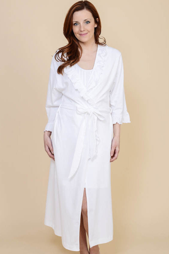 Ruffle Long Robe