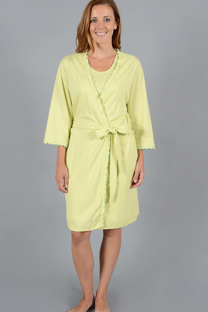 Mini Ruffle Wrap Robe