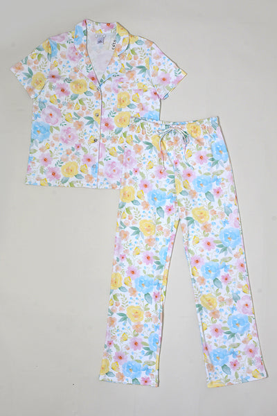 Butterfly Floral Button Down PJ