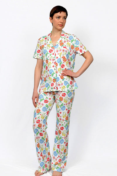 Botanical Button down Long pant PJ