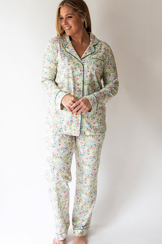 English Floral Full button Pj