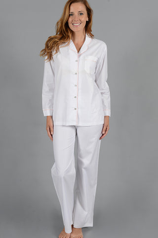 Woven Cotton Tailored Button Down PJ