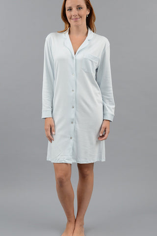Long Sleeve Full Button Nightshirt