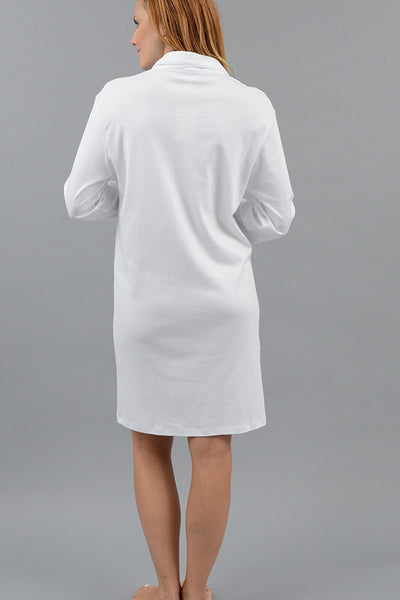Classic Long Sleeve Full Button Nightshirt