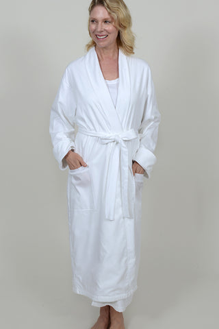 Terry lined Shadow Stripe Woven Robe