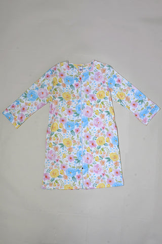 Butterfly Floral Zip Robe