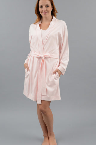 Short Kimono Robe with Set-in Belt