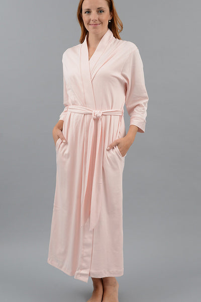 Long Kimono Robe with Set-in Belt