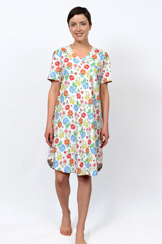 Botanical V-Neck Nightshirt