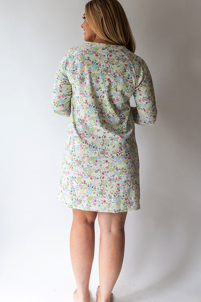 English Floral Henley Nightshirt