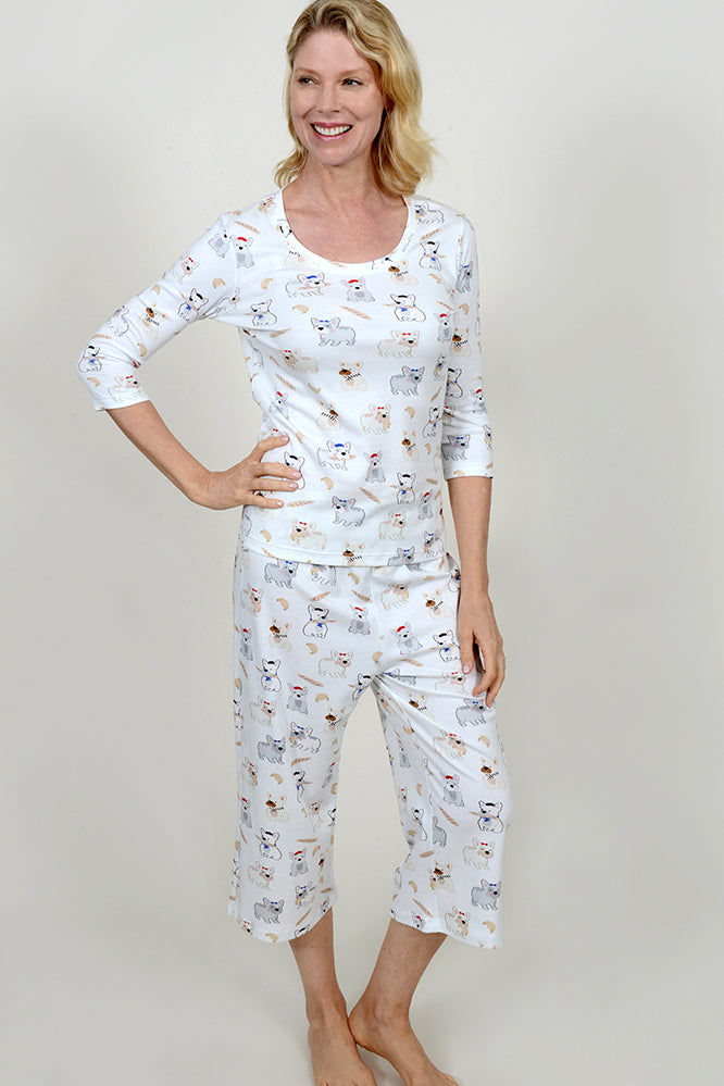 Pardon My Frenchie Capri PJ Pants