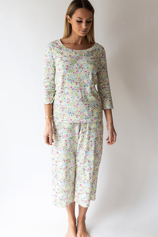 English Floral Capri Pj Pant