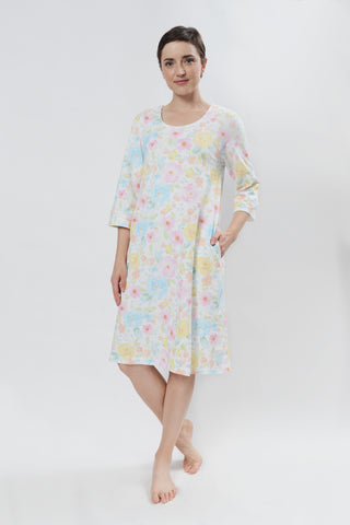 3/4 Sleeve Butterfly Nightgown