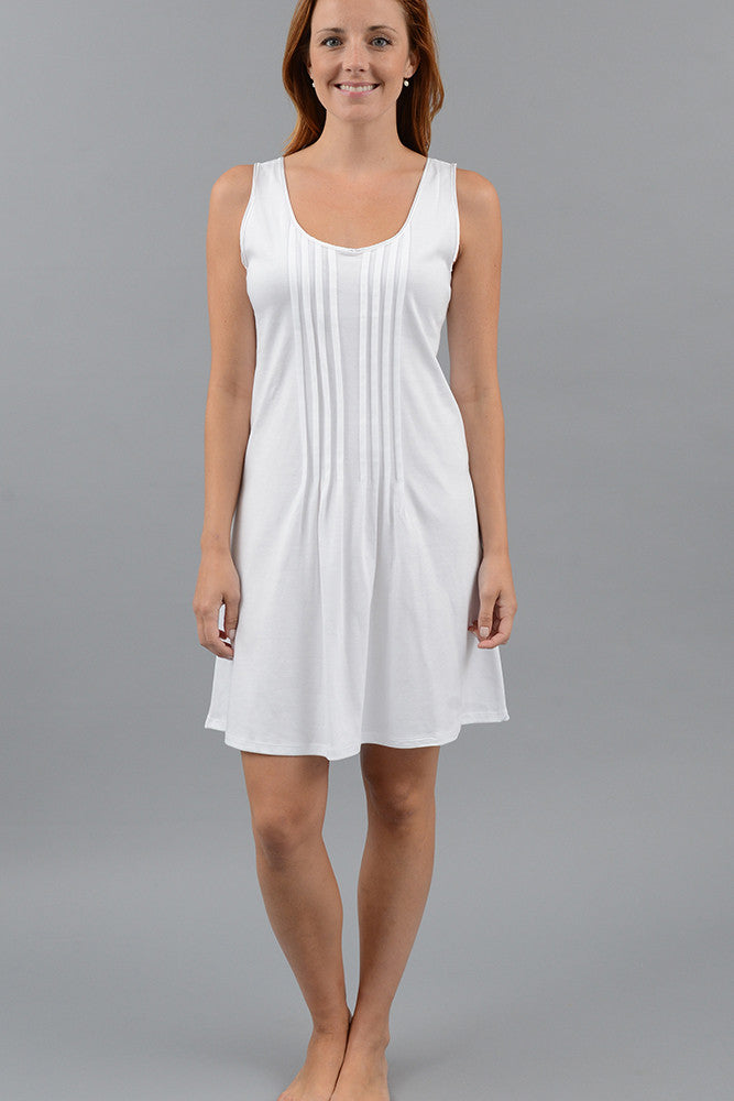 Pleated Short Tank Gown