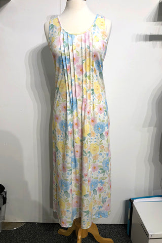 Butterfly Floral Long Pleated Tank Gown