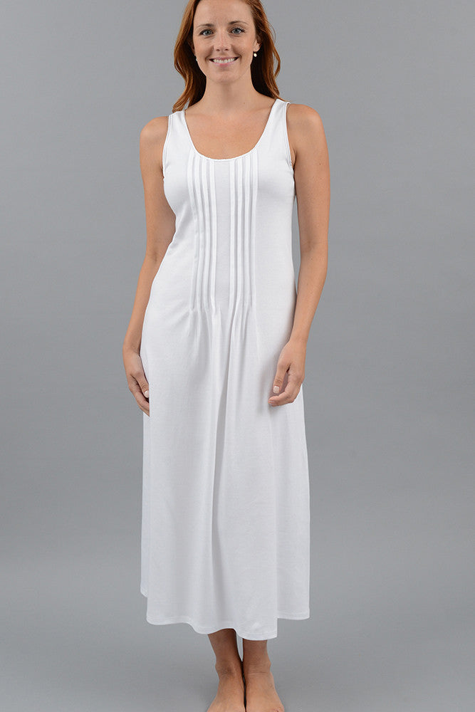 Classic Pleated Long Tank Gown