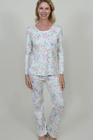 Floral Print Mini Pleat PJ
