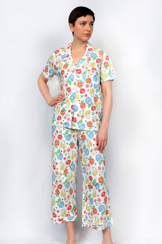 Botanical Button Down Capri PJ