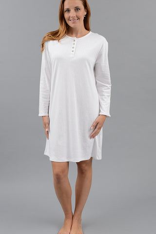 Long Sleeve Dot Nightshirt