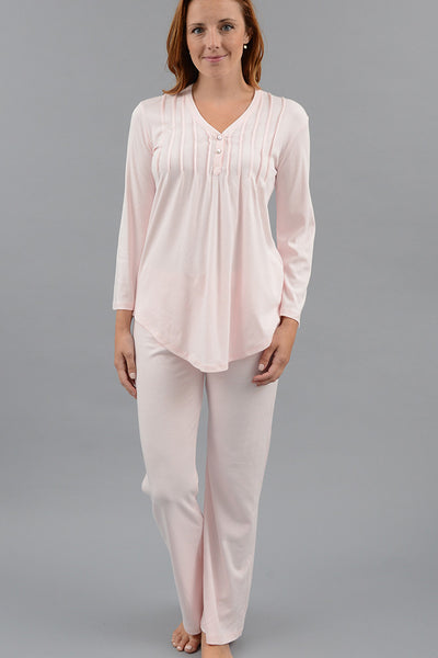 Classic Pleated Henley Pajamas