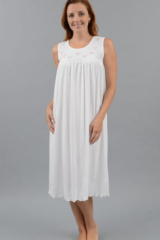 Smocked Long Tank Gown