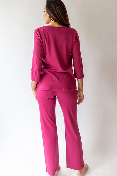 3/4 Sleeve V-Neck Long Pant PJ