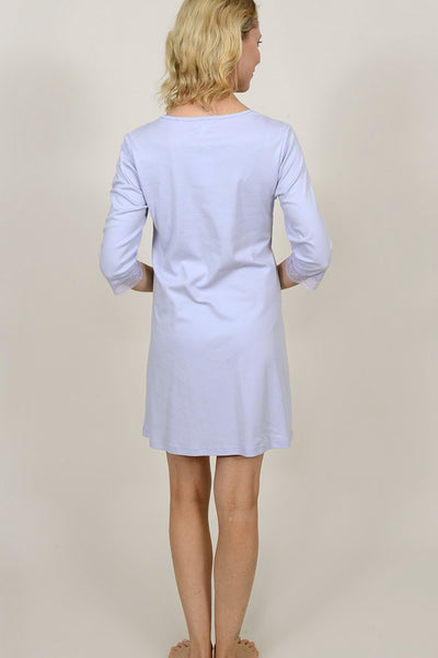 Lace Trim Long Sleeve Nightshirt