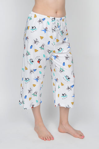 Yoga Dog Capri Pj Pant