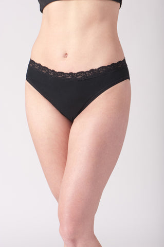 Lace Trim Hi-Cut Panty