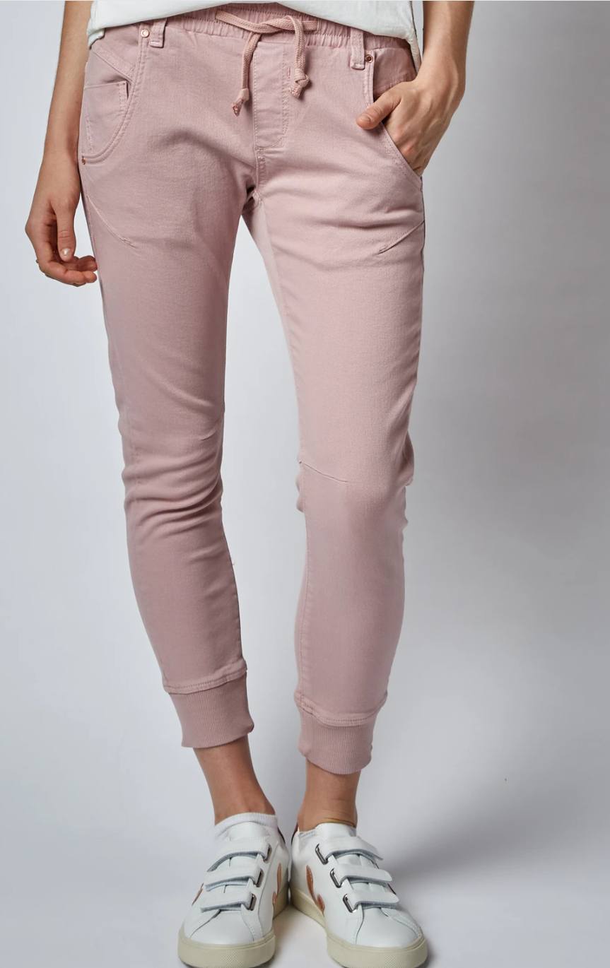 Active Pink Clay Mid Rise Jeans