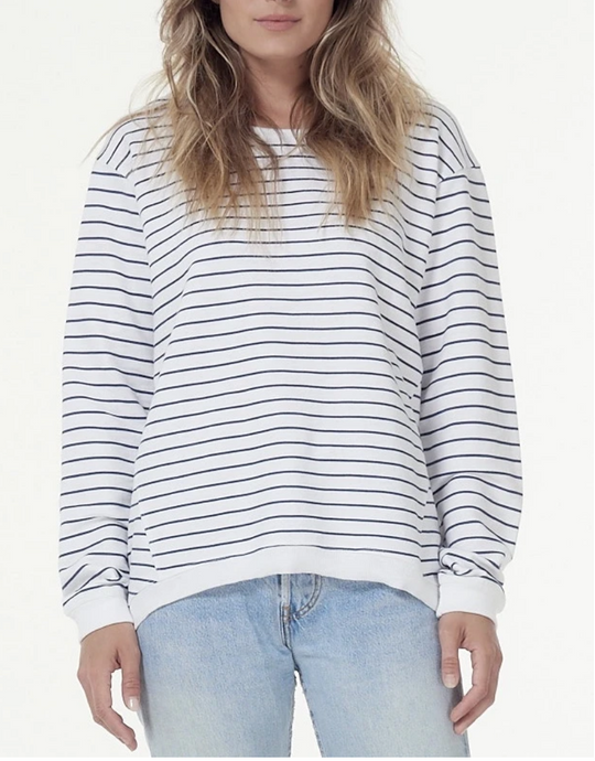 Lucy Sweater - Indigo/White Stripe
