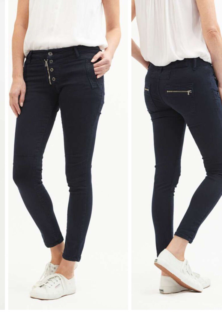 Classic Button Jean - Navy