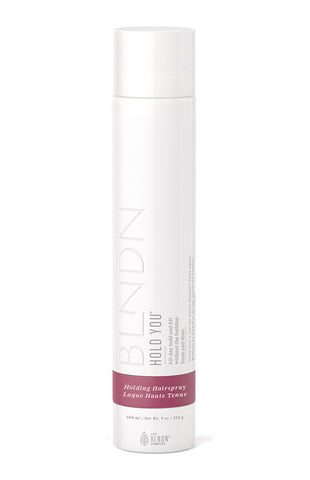 HOLD YOU Holding Hair Spray. All-day hold and lift without the buildup.